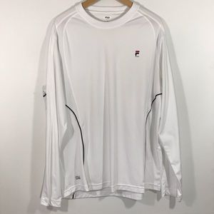 Fila Sport White Dri Fit Workout Long sleeve SZ L